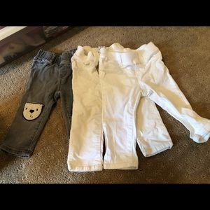 3 pairs of girls baby gap jeans